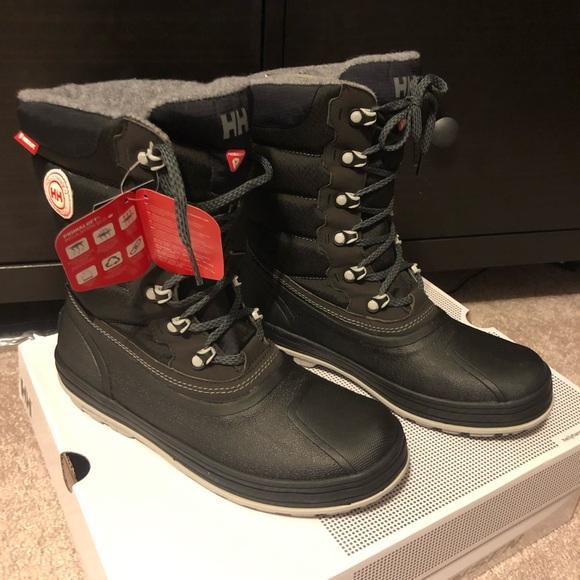 Helly Hansen W Tundra CWB Boot Sz 9 BlackCharcoal NWT